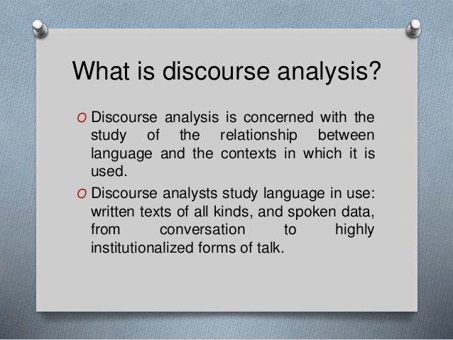 A Discussion About Discourse