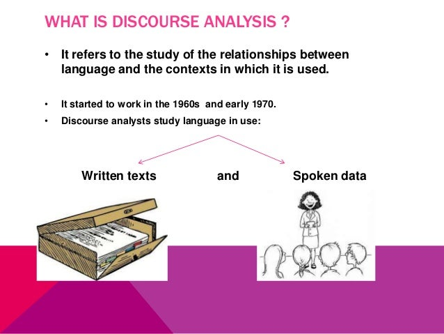 draw the relationship between discourse analysis and teaching writing