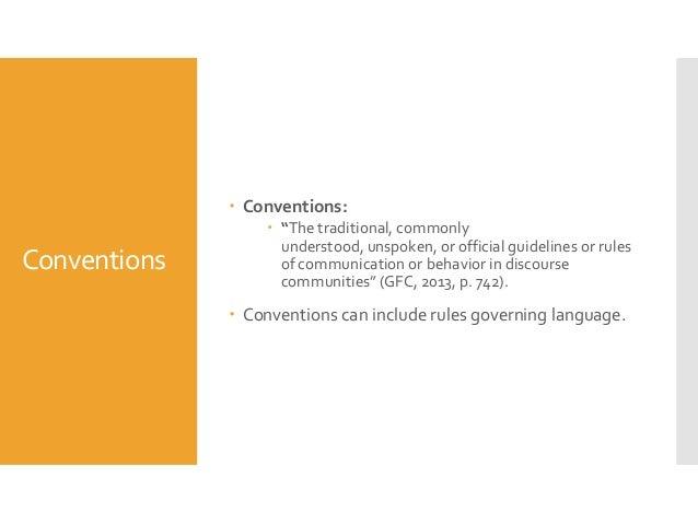 Discursive essay conventions