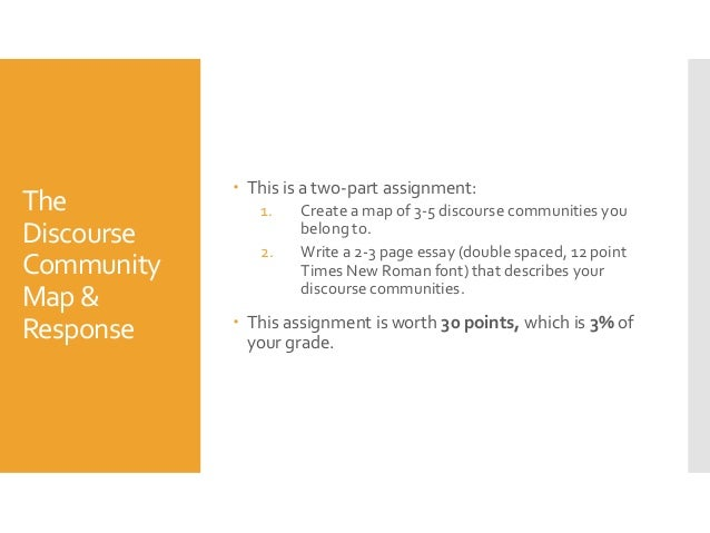 discourse community essay examples