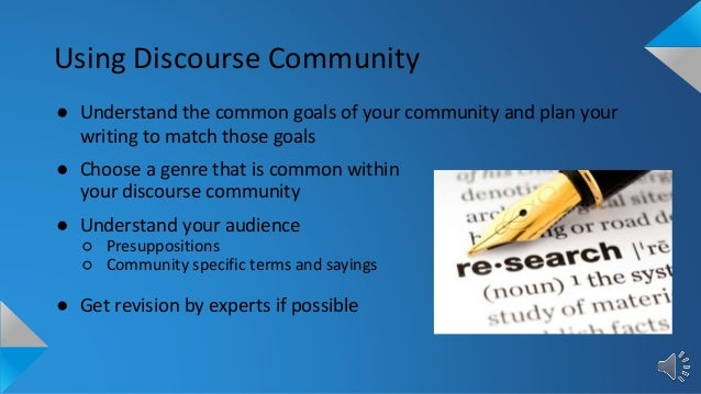 discourse communites Before i delve into a discussion of the subcategories of the architecture and interior design discourse communities, there is one glaring question that must be addressed - what is a discourse community anyway.