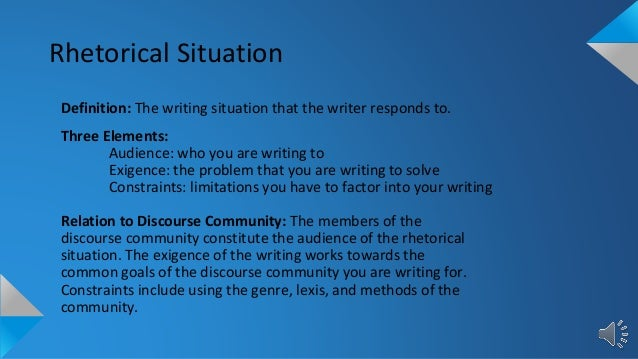 what does rhetorical situation mean