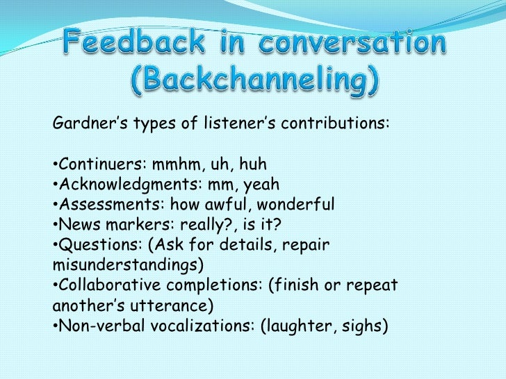 Conversation continuers