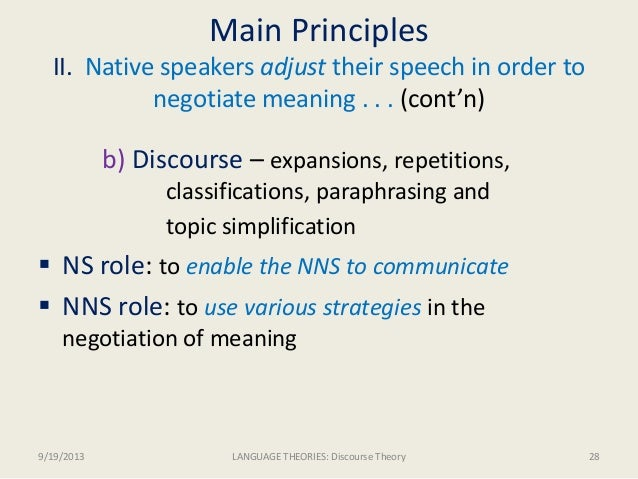 Discursive strategy meaning