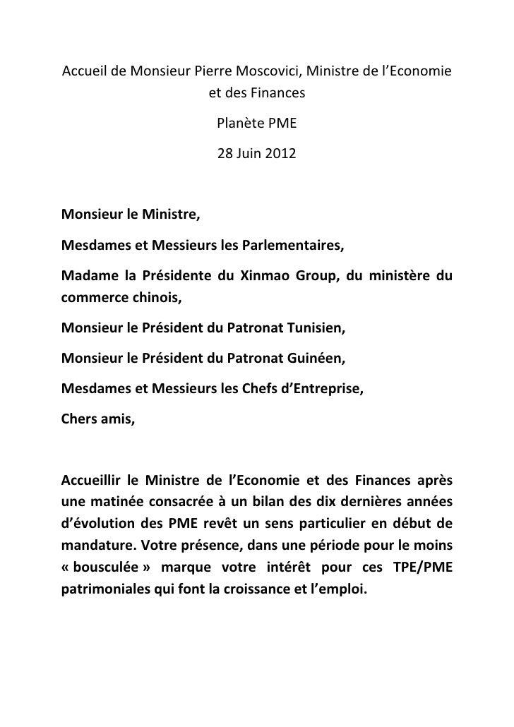 AccueildeMonsieurPierreMoscovici,Ministredel'Economie                      etdesFinances                       ...