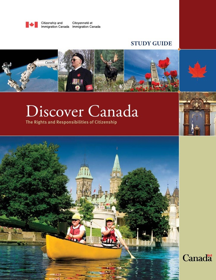 STUDY GUIDEDiscover CanadaThe Rights and Responsibilities of Citizenship