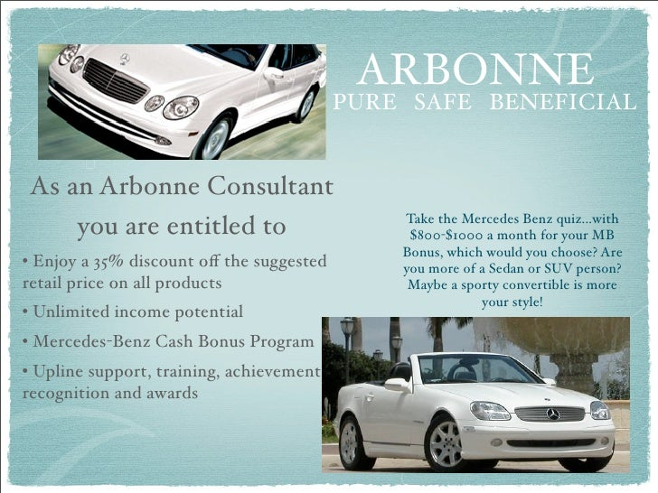 Discover arbonne and the difference you can make for Arbonne mercedes benz