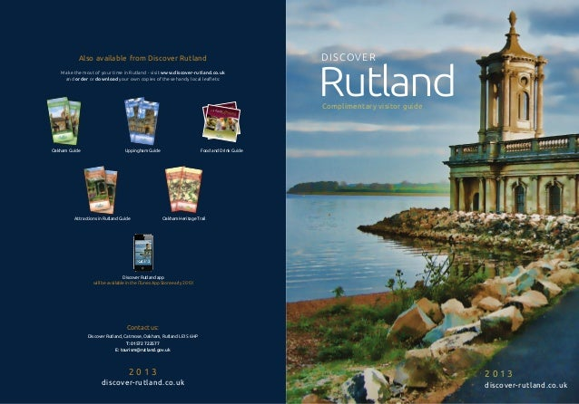 Also available from Discover Rutland                                                                                      ...