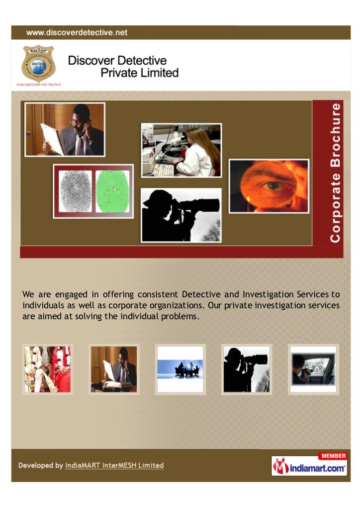We are engaged in offering consistent Detective and Investigation Services toindividuals as well as corporate organization...