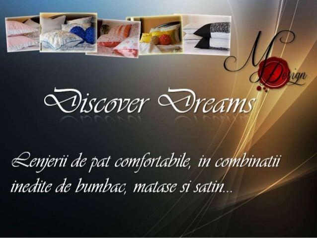Discover Dreams Lenjerii de Pat