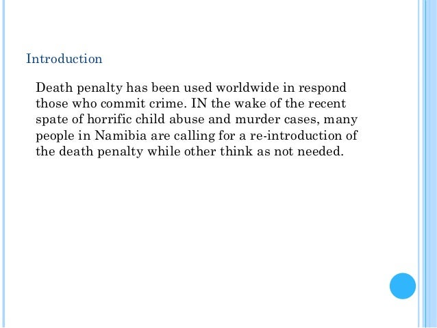 an opinion that child offenders should get the death penalty Should the united states stop using the the death penalty for juvenile offenders because should stop using the death penalty because.