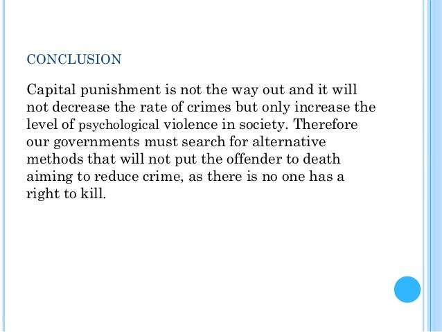 Concluding sentence death penalty essay