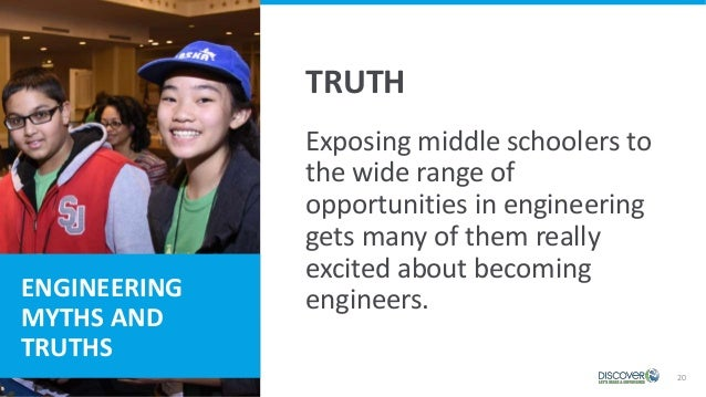 20 Exposing middle schoolers to the wide range of opportunities in engineering gets many of them really excited about beco...
