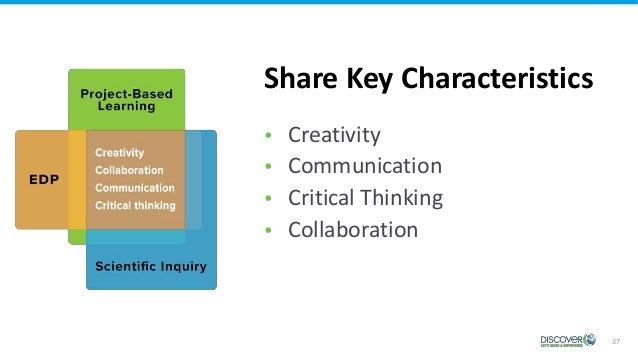 37  Creativity  Communication  Critical Thinking  Collaboration Share Key Characteristics