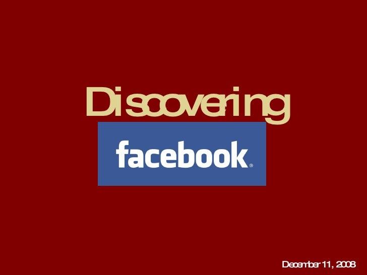 Discovering December 11, 2008