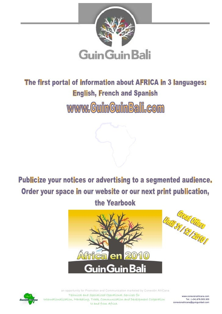 an opportunity for Promotion and Communication marketed by Conexión AfriCana                  Technical and Specialized Op...
