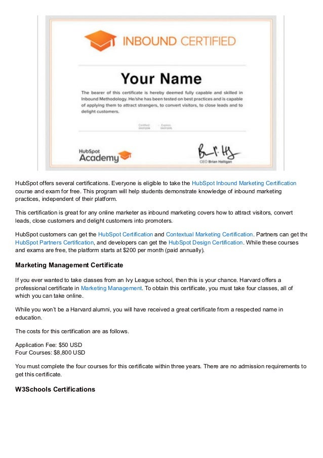 Discover How You Can Use These 30 Certifications To Boost Your Intern…