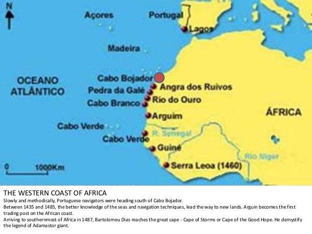 Portuguese Discoveries - Portugal map west coast