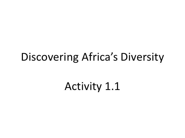 Discovering Africa's DiversityActivity 1.1<br />