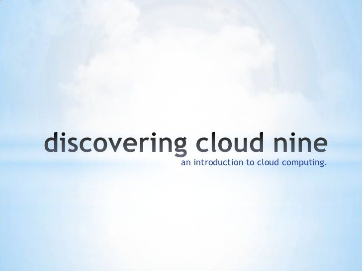 an introduction to cloud computing.