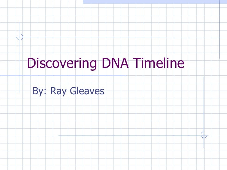Discovering DNA Timeline By: Ray Gleaves