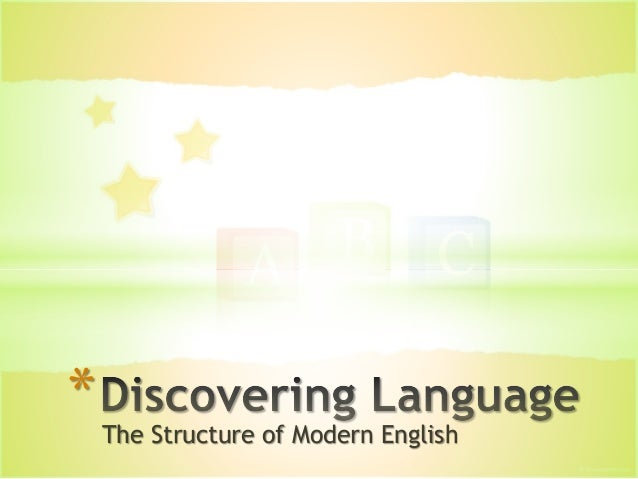 The Structure of Modern English *