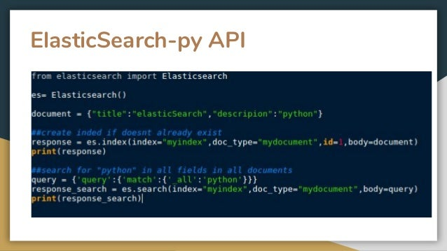 Discovering python search engines