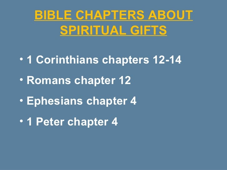 Discovering your spiritual gifts bible chapters about spiritual gifts negle Image collections