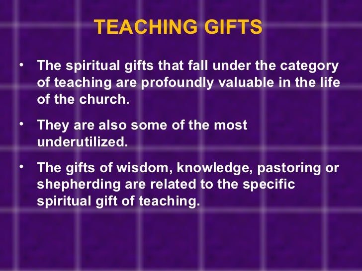 Discovering your spiritual gifts teaching gifts the spiritual negle Images