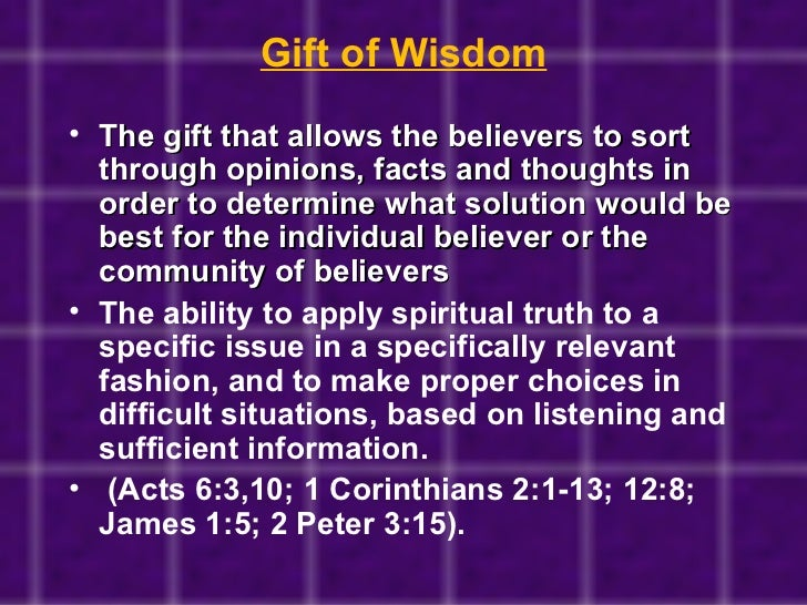 Discovering your spiritual gifts gift of wisdom negle Image collections