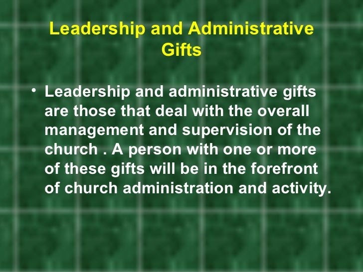 Discovering your spiritual gifts leadership and administrative gifts negle Images
