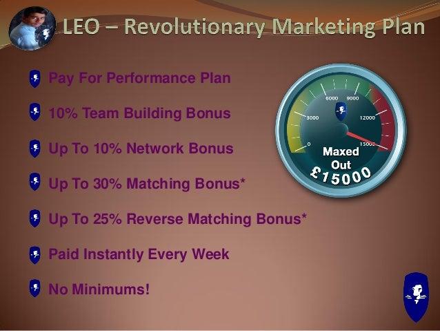 LEO Rank Required RP Team Building Bonus Network Bonus Matching Bonus Reverse Matching Bonus Network & Matching Bonus Cap ...