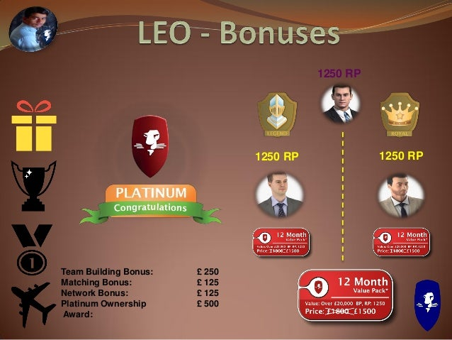 LEO Tower Achieve Platinum status* in first 90 days & qualify for £20,000 BOA Receive at Director rank