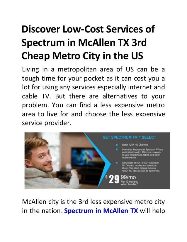 Discover low cost services of spectrum in mc allen tx