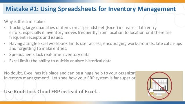 Discover Rootstock ERP - Top 5 Inventory Mistakes and How to