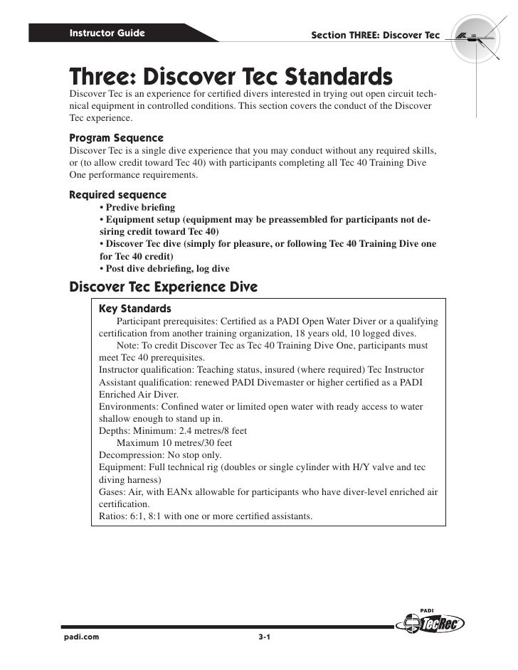 Instructor Guide                                             Section Three: Discover Tec Three: Discover Tec Standards Dis...