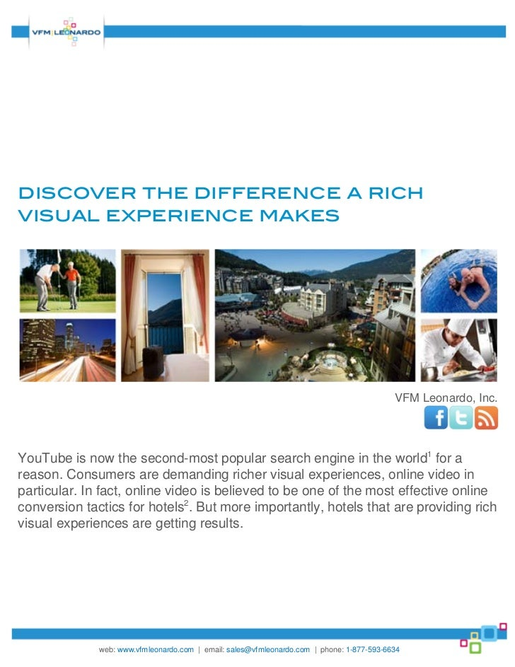 discover the difference a richvisual experience makes                                                                     ...