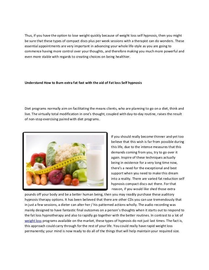 Discover ways to shed extra fat fast by making use of weight loss hypnotherapy Slide 2