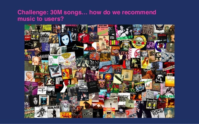 Challenge: 30M songs… how do we recommend music to users?