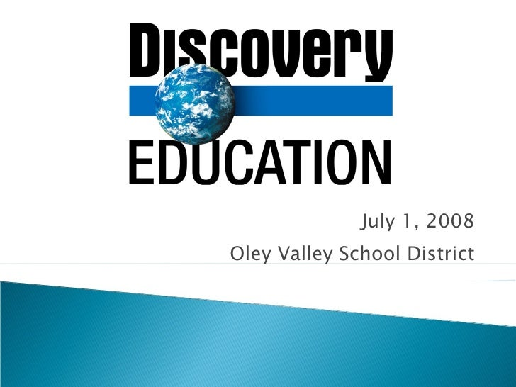 July 1, 2008 Oley Valley School District