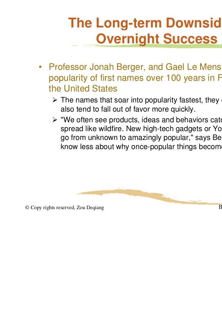 "A few trajectories of first-name popularity   JonahBergerandGaelLeMens (2009),""HowAdoptionSpeedAffectstheAbando..."