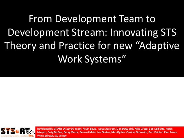 "From Development Team to Development Stream: Innovating STSTheory and Practice for new ""Adaptive           Work Systems""  ..."