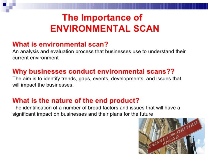 importance of environmental scanning marketing essay Marketing research identifies the significant role that the external environment  plays in the formulation and implementation of marketing strategies (achrol and.