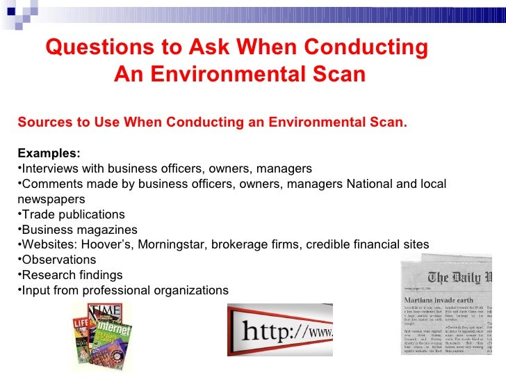 example of environmental scanning in business