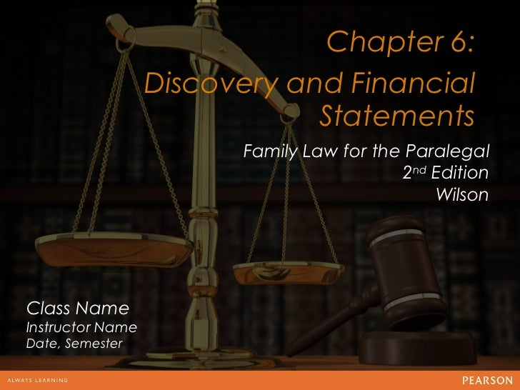 Chapter 6:                  Discovery and Financial                                       12                              ...
