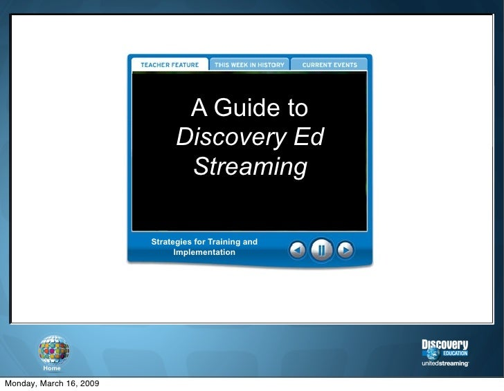 A Guide to                                Discovery Ed                                 Streaming                          ...