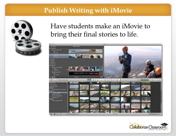 Have students make an iMovie to bring their final stories to life. Publish Writing with iMovie