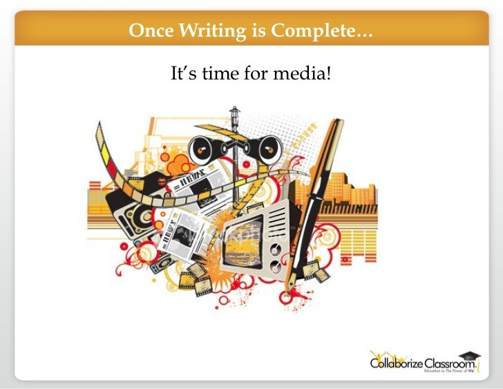 Once Writing is Complete… It's time for media!