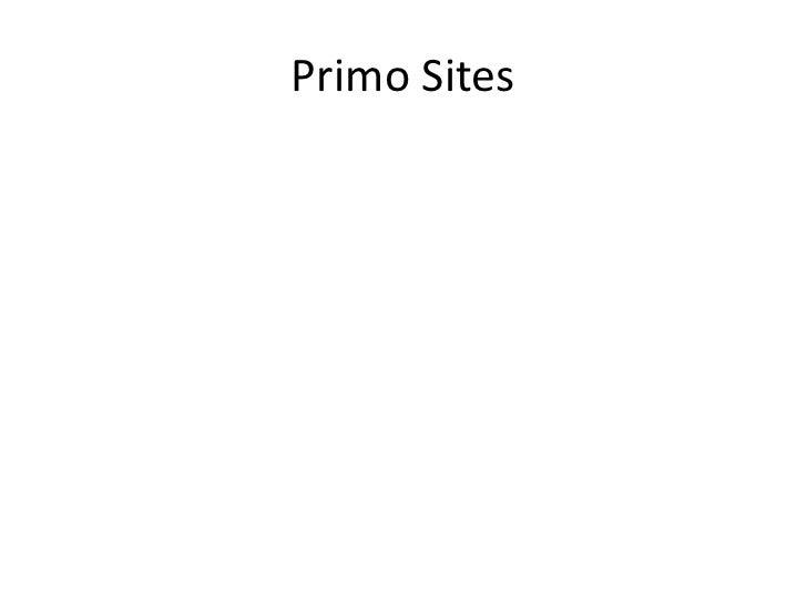 Primo Sites