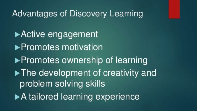 advantages of discovery method